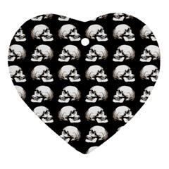 Halloween Skull Pattern Heart Ornament (two Sides)