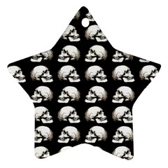Halloween Skull Pattern Star Ornament (two Sides)