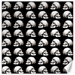Halloween Skull Pattern Canvas 12  X 12