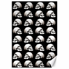 Halloween Skull Pattern Canvas 12  X 18