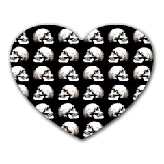 Halloween Skull Pattern Heart Mousepads