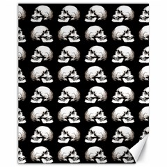 Halloween Skull Pattern Canvas 11  X 14