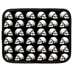 Halloween Skull Pattern Netbook Case (large)