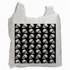 Halloween Skull Pattern Recycle Bag (two Side)