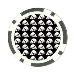 Halloween Skull Pattern Poker Chip Card Guard (10 Pack)