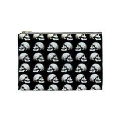 Halloween Skull Pattern Cosmetic Bag (medium)