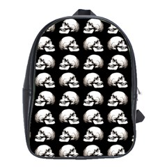 Halloween Skull Pattern School Bag (large)