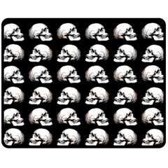 Halloween Skull Pattern Fleece Blanket (medium)
