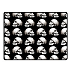 Halloween Skull Pattern Fleece Blanket (small)