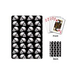 Halloween skull pattern Playing Cards (Mini)  Back