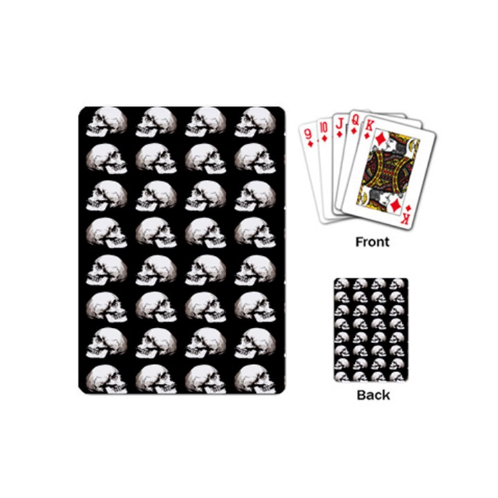 Halloween skull pattern Playing Cards (Mini)