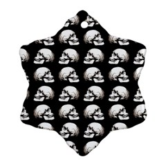 Halloween Skull Pattern Snowflake Ornament (two Sides)