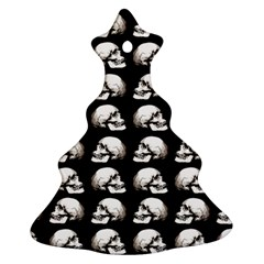 Halloween Skull Pattern Christmas Tree Ornament (two Sides)