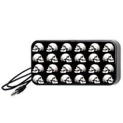 Halloween Skull Pattern Portable Speaker (black)