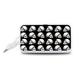 Halloween Skull Pattern Portable Speaker (white)