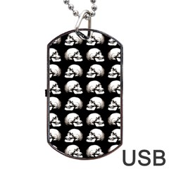 Halloween Skull Pattern Dog Tag Usb Flash (one Side)