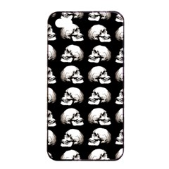 Halloween Skull Pattern Apple Iphone 4/4s Seamless Case (black)