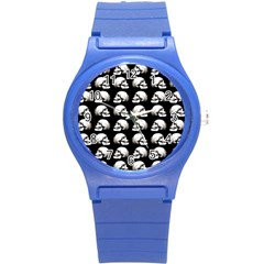 Halloween Skull Pattern Round Plastic Sport Watch (s)