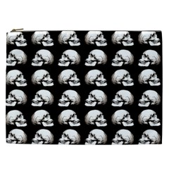 Halloween Skull Pattern Cosmetic Bag (xxl)