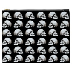 Halloween Skull Pattern Cosmetic Bag (xxxl)