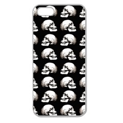 Halloween Skull Pattern Apple Seamless Iphone 5 Case (clear)