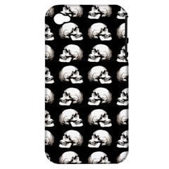Halloween Skull Pattern Apple Iphone 4/4s Hardshell Case (pc+silicone)