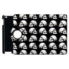Halloween Skull Pattern Apple Ipad 2 Flip 360 Case