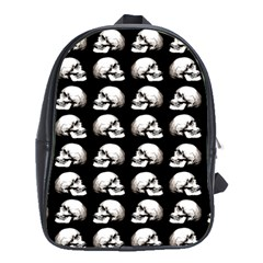 Halloween Skull Pattern School Bag (xl)