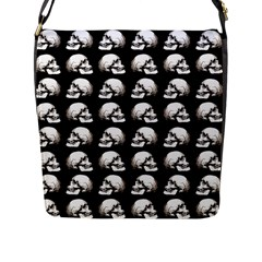 Halloween Skull Pattern Flap Messenger Bag (l)