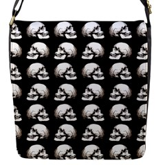 Halloween Skull Pattern Flap Messenger Bag (s)