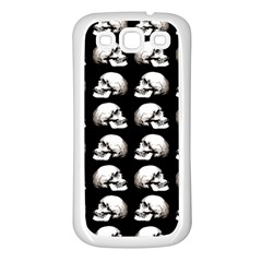 Halloween Skull Pattern Samsung Galaxy S3 Back Case (white)