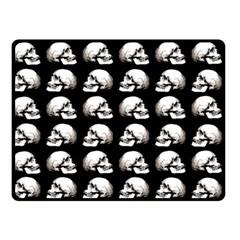 Halloween Skull Pattern Double Sided Fleece Blanket (small)