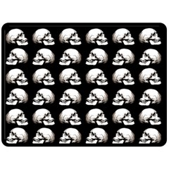Halloween Skull Pattern Double Sided Fleece Blanket (large)