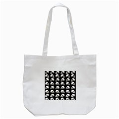 Halloween Skull Pattern Tote Bag (white)