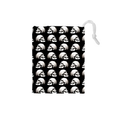 Halloween Skull Pattern Drawstring Pouches (small)