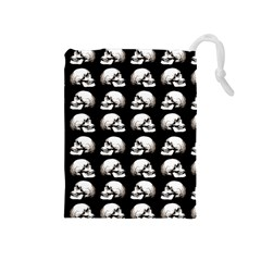 Halloween Skull Pattern Drawstring Pouches (medium)