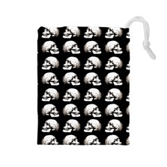 Halloween Skull Pattern Drawstring Pouches (large)