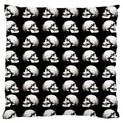 Halloween Skull Pattern Large Flano Cushion Case (two Sides)