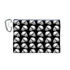 Halloween Skull Pattern Canvas Cosmetic Bag (m)
