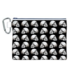 Halloween Skull Pattern Canvas Cosmetic Bag (l)