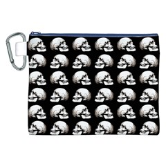 Halloween Skull Pattern Canvas Cosmetic Bag (xxl)