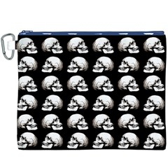 Halloween Skull Pattern Canvas Cosmetic Bag (xxxl)