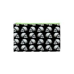Halloween Skull Pattern Cosmetic Bag (xs)