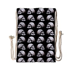 Halloween Skull Pattern Drawstring Bag (small)