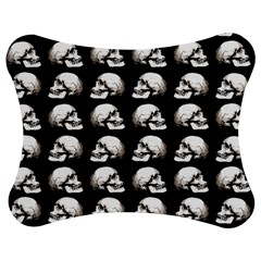Halloween Skull Pattern Jigsaw Puzzle Photo Stand (bow)