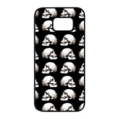 Halloween Skull Pattern Samsung Galaxy S7 Edge Black Seamless Case