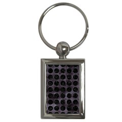 Circles1 Black Marble & Black Watercolor (r) Key Chains (rectangle)
