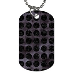 Circles1 Black Marble & Black Watercolor (r) Dog Tag (one Side)