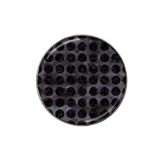 Circles1 Black Marble & Black Watercolor (r) Hat Clip Ball Marker (10 Pack)