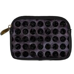 Circles1 Black Marble & Black Watercolor (r) Digital Camera Cases
